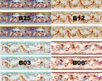 Dolls House Wallpaper Border 77 ins long 1/12th 1/24th choice of 4 designs Cherubs