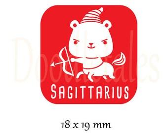 Horoscope Sagittarius (Rubber Stamp)