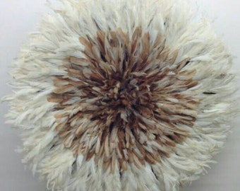 White Edge with Assorted Light Brown Center 30 inch Juju Hat