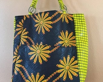 Loren #48  Bright Knitting Bag, Knitting Bag, Knitting Project Bag, Knitting Tote, Project tote, Project  Bag, Knit,Crochet,Spin, Bags, Tote