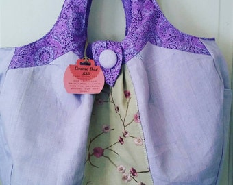 Lavender Embroidered Purse