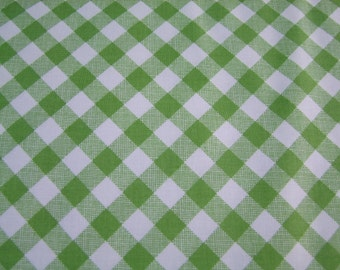 Green Gingham Fabric by the Yard Sew Cherry Lori Holt