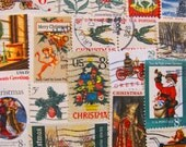 Season's Greetings 50 Vintage Christmas US Postage Stamps Traditional XMas 60s 70s Contemporary Happy Holidays Scrapbooking Cardmaking Snow