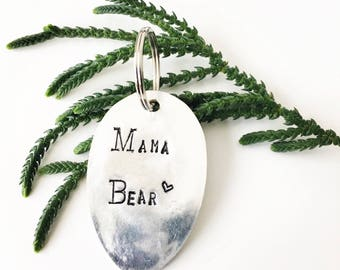 Mother's Day Mama Bear Keychain