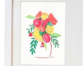 Floral Watercolor Print / Poster
