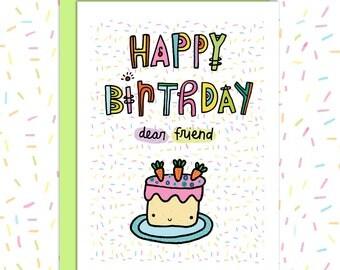 Cake Happy Birthday Cards, Blank Birthday Card, Cake Birthday Card, Cake Greeting Cards, Cake Stationery