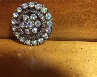 Antique Rhinestone Button