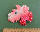Celluloid Scottie / Scotty Dog Pin - Vintage Occupied Japan - Large