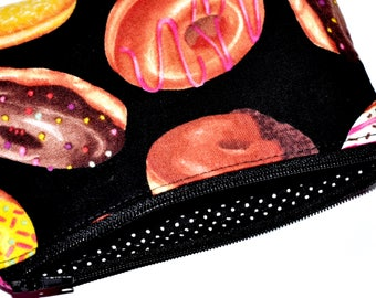 Donut Coin Purse Zipper Pouch Card Pouch Wallet Gift Idea Zippered Purse