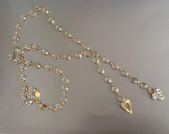 Swarovski crystal necklace with charms