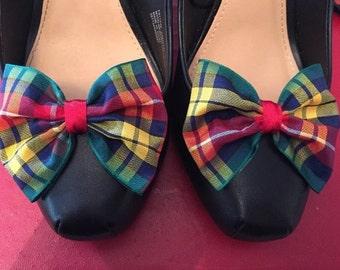 Buchanan Tartan Shoe Clips Plaid Shoe Clips Bows for your Shoes Accessories Bow Clips
