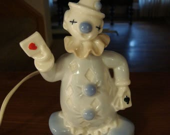 Vintage I.W. Rice clown lamp