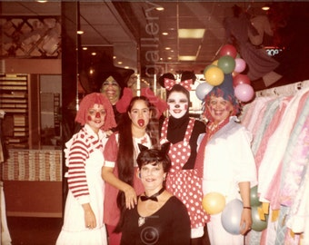 Vintage Photo, Halloween Costumes, Clown Costume, Color Photo, Old Photo, Found Photo, Snapshot, Vernacular Photo     *Augustine0719