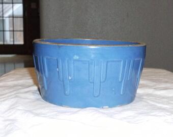 Vintage Blue Stoneware Dish