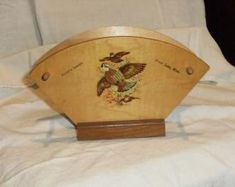 Vintage Minnesota Wood Napkin Holder