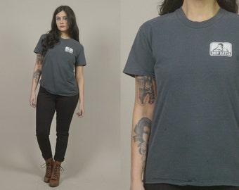80s T Shirt BEN DAVIS Pacific Workwear Healdsburg, CA Ape Blue Collar Workman 1980s Gorilla Tee / Size M Medium