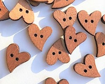 12- Heart Shaped Buttons - Packaging Embellishment