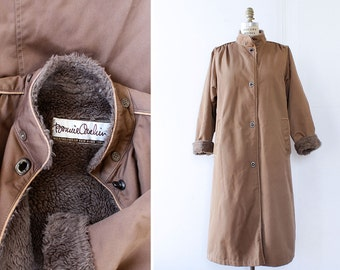 Bonnie Cashin Coat M • 80s Coat • Teddy Coat • Puffy Coat • Vintage Coat • Fleece Coat • Long Coat • Winter Coat | O382