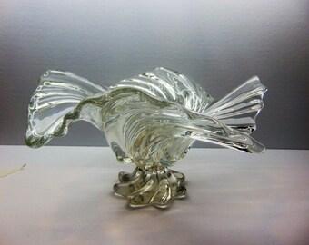 Vintage Art Glass  Bowl, Decorative Table Center Piece