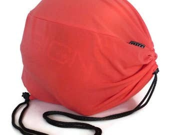 NEW--Geranium Jersey Helmet Bag. Bike drawstring bag. Bicycle accessories.