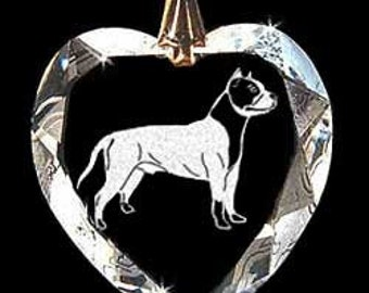 American Staffordshire Terrier, Amstaff, Stafford dog, Jewelry Crystal Necklace Pendant, Suncatcher custom made with any Animal and or Name