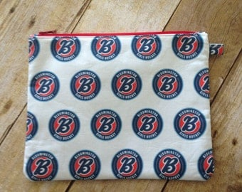 Large Zipper Pouch - Bloomington Girls Hockey Fabric - Large Pencil Pouch