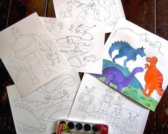 Kids Watercolor Painting Kit
