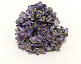 Jumbo PURPLE Hydrangea Head - Small Petals - Artificial Flowers, Silk Flowers, Flower Crown, Millinery, Scrapbooking