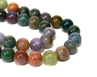 10mm Fancy Jasper beads, round natural gemstone bead, Full & Half strands available  (665S)