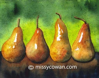 GILDED PAIRS - Giclee of  Watercolor