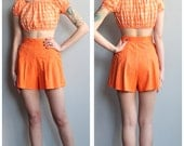 1930s Shorts // Orange Cotton Shorts // vintage 30s shorts