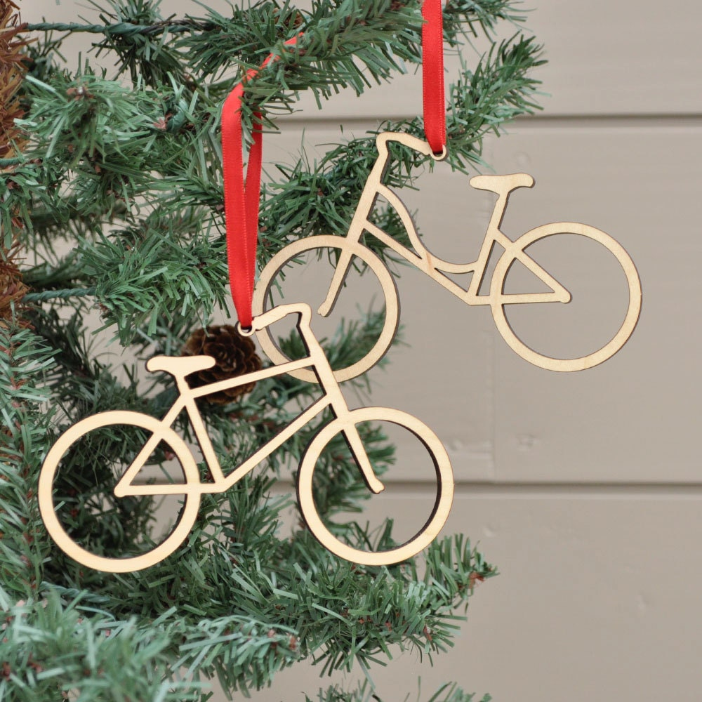 Bicycle Christmas Tree Decorations Ornaments