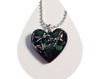 Crystal Heart Necklace with Positve Energy. Crystal Necklace with Orgone Chakra Energy Activator