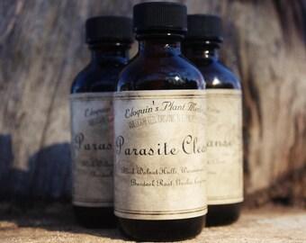 Parasite Cleanse 2oz Black Walnut Hulls, Wormwood, Clove, Burdock Root, Garlic, Cayenne