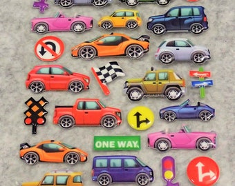 Mixed Cutie Cars Stickers