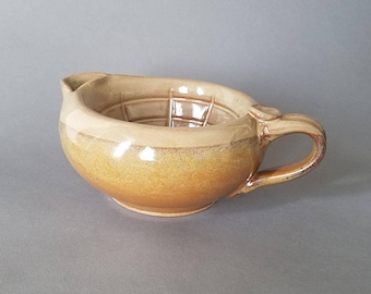 Big Daddy Shaving Scuttle Bowl in Honeyed Ginger and Multi Colored Speckle
