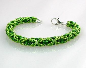 Lush Lime  Braid Bracelet