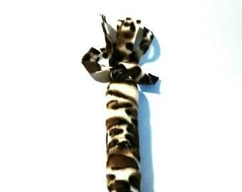 Fleece Catnip Kicker Leopard