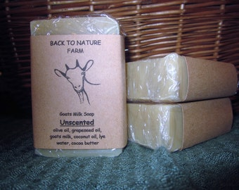Handmade Unscented Goats Milk Soap