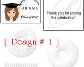 2017 - Qty. Of 20 Graduation Mint Toppers (assembled with candy) (5 designs to choose from)