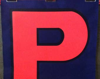 """listings Choose ONE (Or More) 1960s HUGE 24"""" x 24"""" Silkscreened Letters -Four Available (P - A - I - N)"""