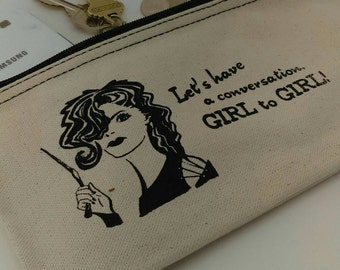 Bellatrix Inspired Cosmetic Case - Zipper Pouch, Clutch Purse