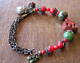 Little Red House Bracelet