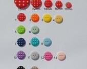 36x 18mm Spotty Buttons