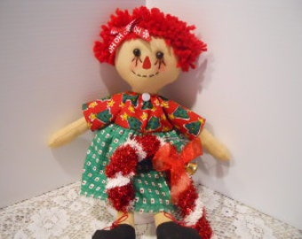 "CHRISTMAS, Rag Doll 13"", candy cane"
