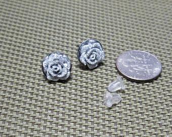 Silver Roses Earrings