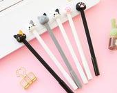 Korean Cute Cat Pen - Cute Cat Gel Ink Pen  - Kawaii Cat Pen