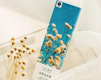 30 Pcs Hand Painted Flowers Bookmark- Die Cut Cardstock Scrapbook Embellishment Bookmark