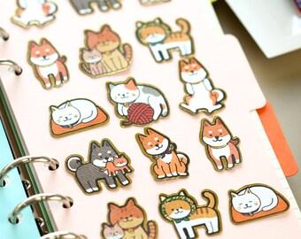 Cat Planner Stickers Scrapbooking Stickers Die Cut Stickers Paper Deco Sticker Stamp