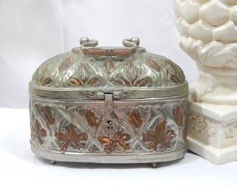 Vintage Turkish Soap Box, Cricket Box,Ethic Bohemian,Moroccan,Brass,Copper,Tin,Made in Turkey,Jewelry box,Trinket Box
